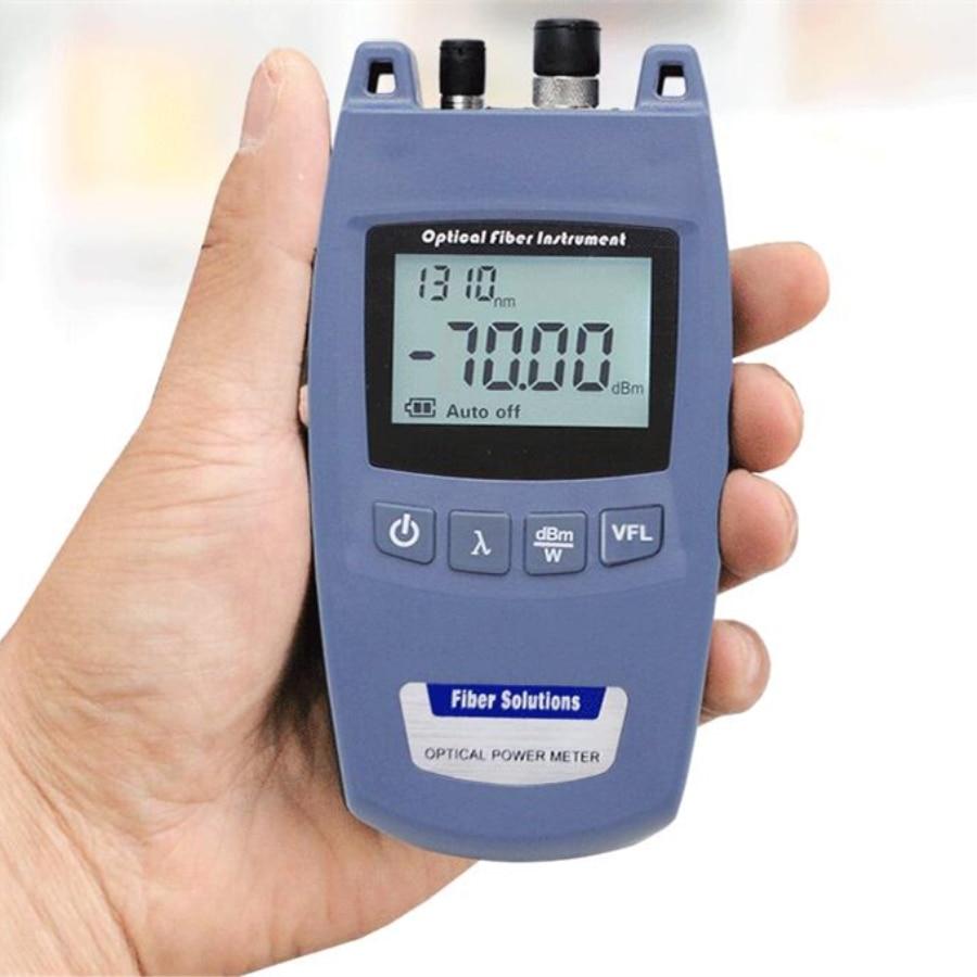 Mini FTTH 2-in-1 Fiber Optical Power Meter And 10mW 10km Visual Fault Locator TL520 -70dBm~+10dBm FC/ 2.5mm Universal Interface