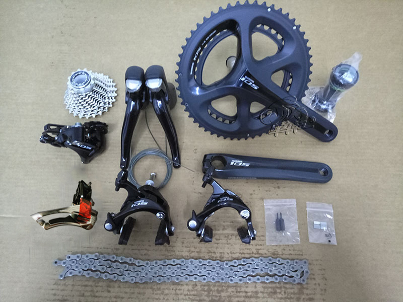 Shimano 105 5800 2x11S Speed Road Bike Groupset 50-34T 53-39T 170mm 172.5mm Bicycle Kit west biking bike chain wheel 39 53t bicycle crank 170 175mm fit speed 9 mtb road bike cycling bicycle crank