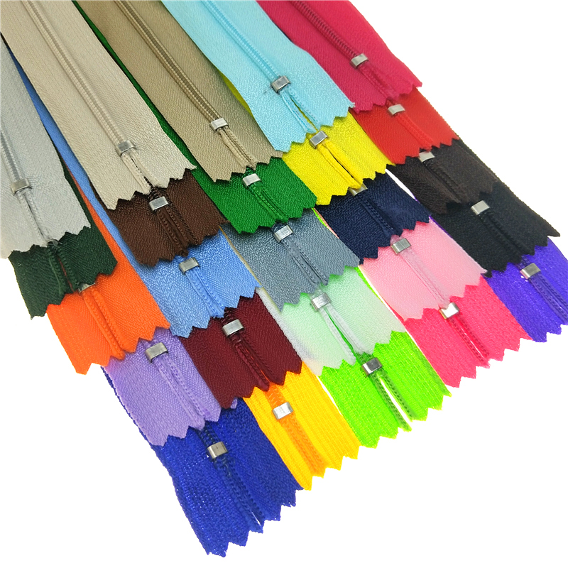 10PCS 15/20/25/30/35/40/45/50/55/60cm Nylon Coil Zippers Tailor for Trousers Clothing Sewing Handcraft DIY Accessories Wholesale