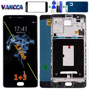 Image 1 - Vancca 5.5 inch AMOLED For Oneplus 3 Three A3000 A3003 LCD Display Touch Screen Digitizer Assembly 1080*1920 Free Glassfilm Tool
