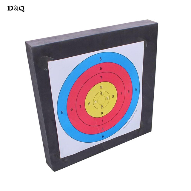 Archery Target EVA Sponge Dart Equipment 50*50*5cm with 5 pcs Target Paper for Hunting Shooting Training Target Practice Sport