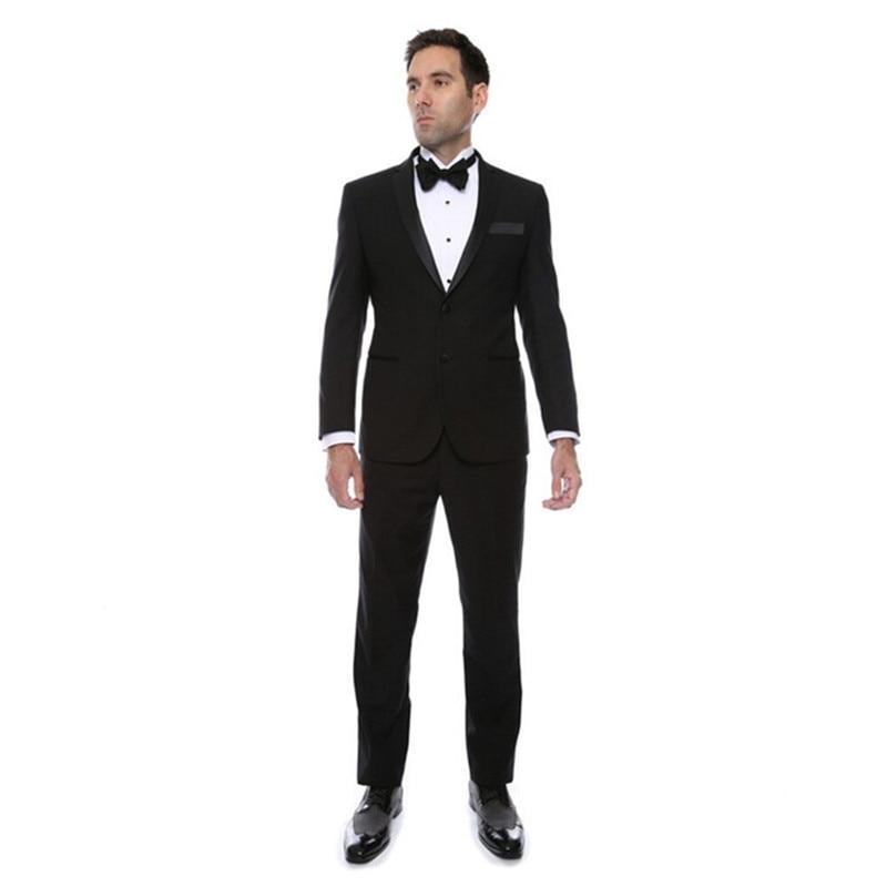 De Satin Marié Notch Made D honneur The custom Revers Mariage Noir veste As  Costume D homme Meilleur Garçons ... fa1b383b16b