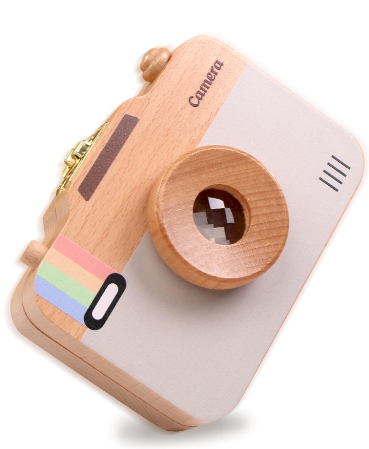 Wooden Milk Teeth Box For Kids Camera Shape Tooth Storage Box For Newborn Creative Baby Girl Boy Tooth Organizer Boxes Z749