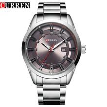 Curren 8246 Marca de Lujo Correa Cuarzo de Los Hombres de Moda Casual Vestido Reloj Fecha Display Analógico