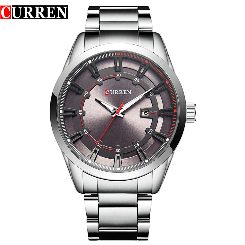 Prix pour Curren 8246 Marque De Luxe Bracelet Hommes de Quartz De Mode Casual Robe Montre-Bracelet Affichage de la Date Analogique