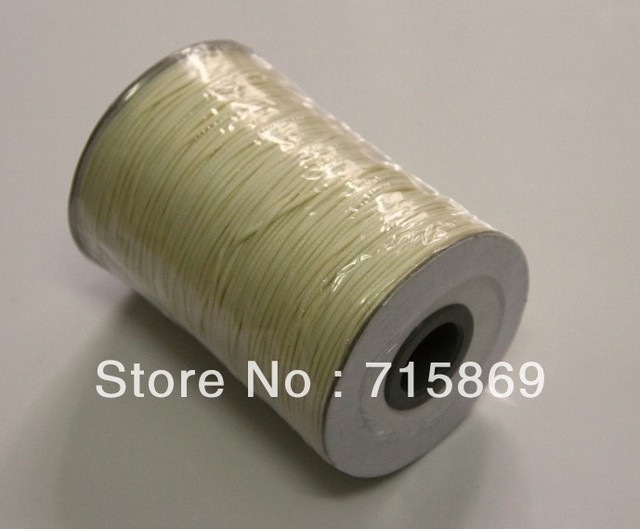 Free Shipping High Quality 1MM 200 Yard (180M) Beige  KOREA Wax Cotton Cords Thread Waxed Cotton Cord