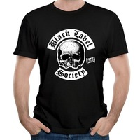 T Shirt Casual For Clothing Summer O Neck Short Sleeve New Black Label Society Tour Design