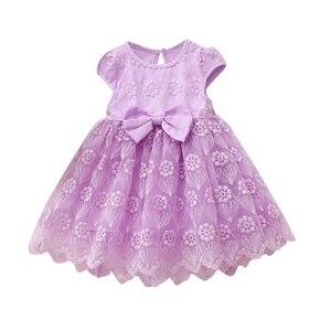 NewBorn Baby Girls Dress Lace Mesh Girls Infant Clothes Pink Princess Dress Children Clothes Baby Girls Dress 2019 New Summer(China)