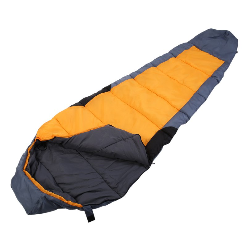 New Outdoor Portable Camping Hiking Warm Adults Mummy Sleeping Bag 5F/-15C With Carrying Case