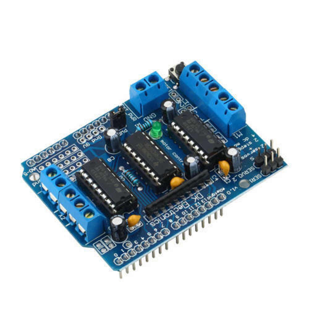 Фото Горячая продажа для Arduino Duemilanove Mega модуль драйвера двигателя Замена Расширения