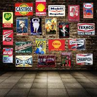 Моторное масло Garage Винтаж Олово Вход Лист Wall отель паб дома художественных промыслов Декор автомобилей железа плакат Куадрос A-1601