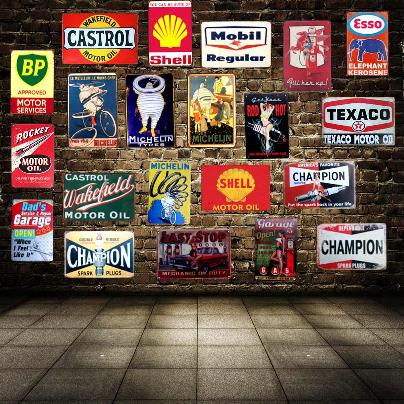 Motor Oil Garage Vintage Tin Sign Metal Plate Wall Hotel Pub Home ...