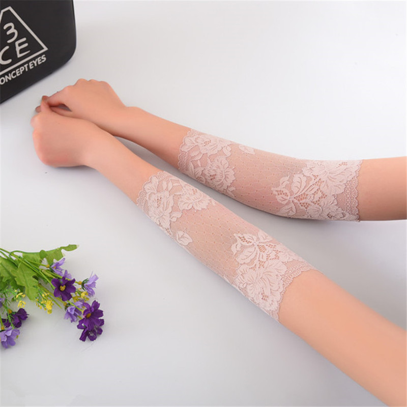 Summer Women Lace Arm Sleeves Tattoo Scar Covers Fashion Driving Gloves Anti UV Sunscreen Sleeves Arms For Elbow Lady Arm Covers