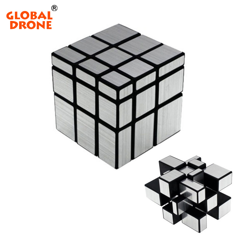 Global Drone 3x3x3 Professional Magic Cast Coated Puzzle Speed Cube Learning Education Magic Mirror Cube Toys For Children dayan 5 zhanchi 3x3x3 brain teaser magic iq cube white