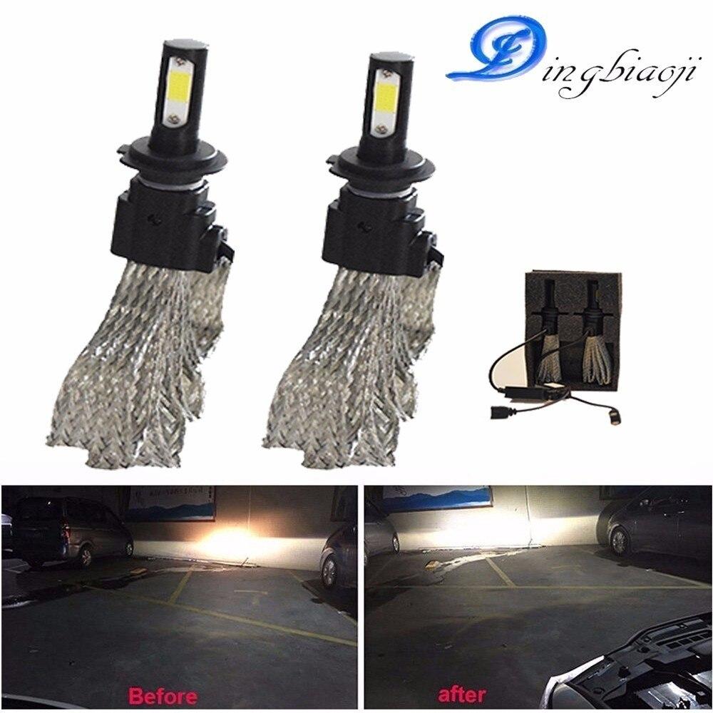 H1 H4 H7 H3 HB3 HB4 H11 LED auto Scheinwerferlampen 72 W 6400lm/Paire 6000 quilates S7 Auto Scheinwerfer nebelscheinwerfer 12 V 24 V