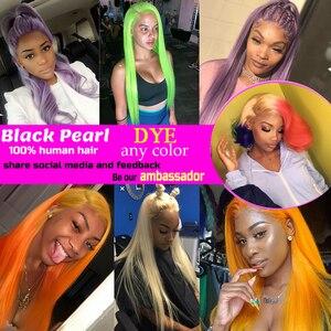 Image 5 - Czarna peruka perłowa brazylijski proste włosy 613 miód blond wiązki 1/3/4 wiązki Remy włosy tkania wiązki ludzkich włosów 10 26 Cal