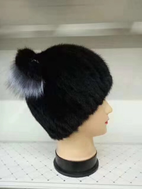 REROYFU Natural Real Mink Fur With Real Fox Fur Hat For Women Gift Retail Genuine Fur Hats Wholesale
