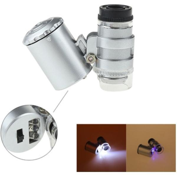 Портативный открытый 60X карманный мини микроскоп Лупа светодиодные Карманный микроскоп Лупа Регулируемая Лупа кемпинг инструмент