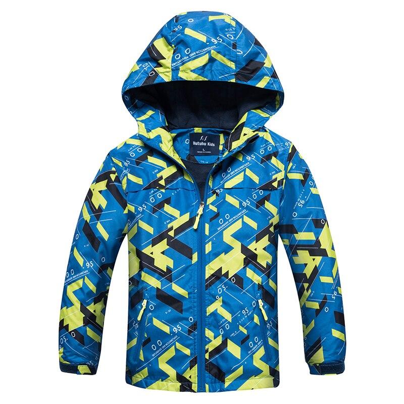 Верхняя одежда на флисе для детей весна-осень Теплая спортивная одежда для детей Водонепроницаемые и ветрозащитные куртки для мальчиков от...