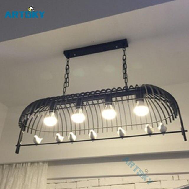 Nordic European Simple Personality Chandeliers Light Fixtures Warm Bird Lighting Bedroom Restaurant Living Room Lamp