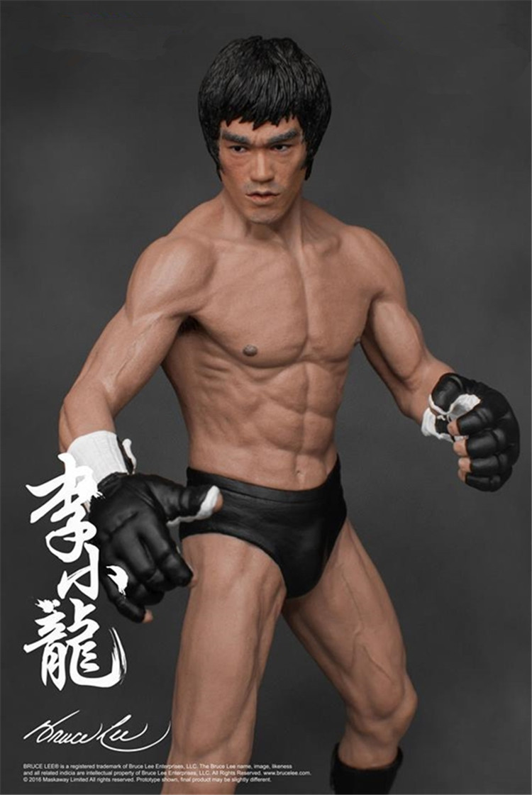 19cm Bruce Lee Fighting Version PVC Action Figure Collection Model Toys цена