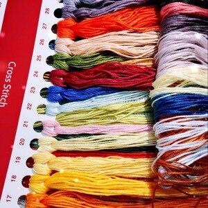 Набор для вышивки крестиком, 11/14ct, наборы для полной вышивки, фруктовые и розовые вазы, подсчетный узор, подарок для вышивки крестиком