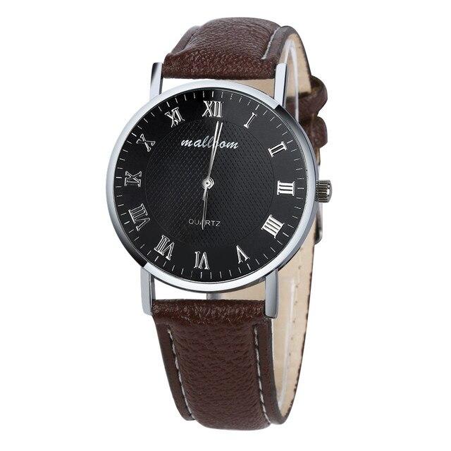 2017 Luxury Brand Men Dress Watch Fashion Business Faux Leather Quartz Watchwatch Watches Mens Male Clock Gift relogio masculino