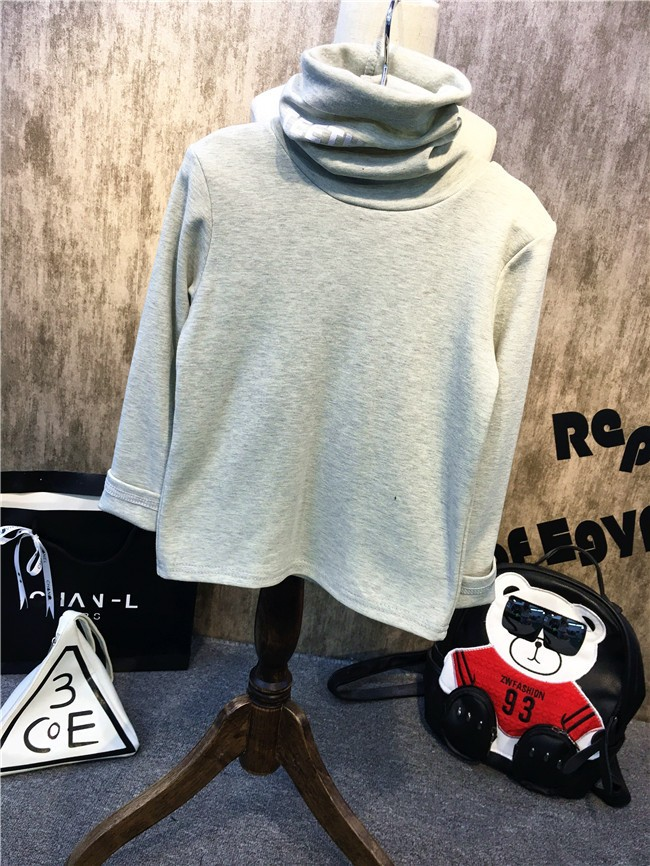 Children girls and boys candy color turtleneck bottoming t shirt (12)