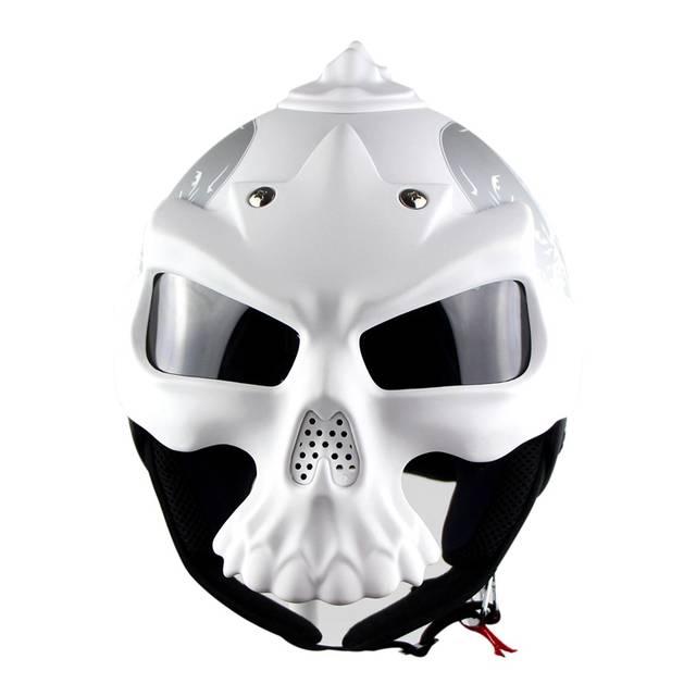Soman Crâne Casque Moto Cross Personnalité Crâne Casque De Masque De