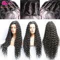 Loose Curly Wigs Synthetic Lace Front Wigs For Black Woman Bouncy Curly Glueless Lace Front Wig Heat Resistant Free Shipping