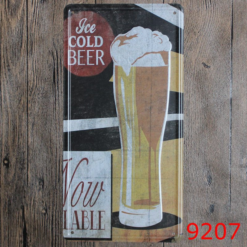 Car number  ICE COLD BEER  License Plates plate Vintage Metal tin sign Wall art craft painting 15x30cm