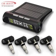 2019 Car TPMS Tire Pressure Monitoring System 4 Internal Sensors Wireless Solar Power Digital LCD Display Car Security Alarm