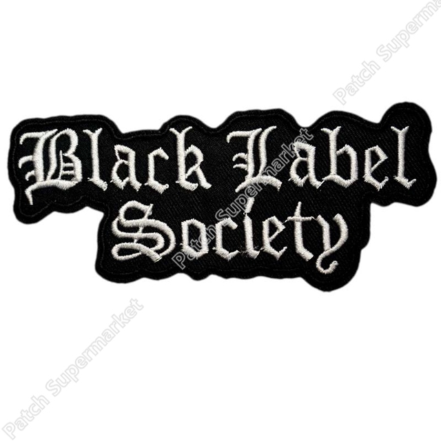 4 7 black label society music band logo embroidered new stickers and sew on patch heavy