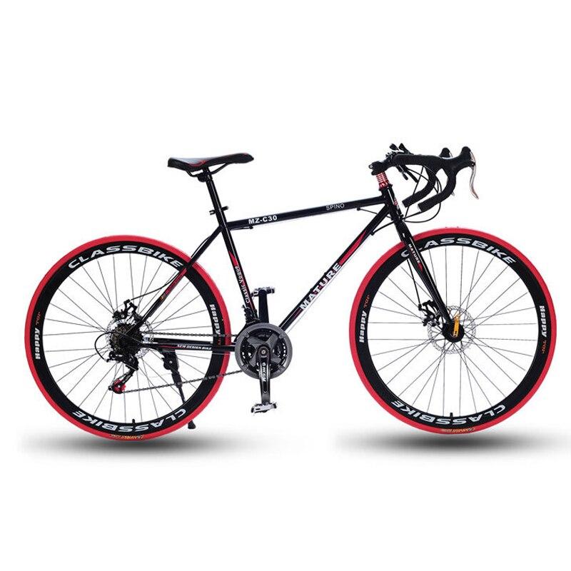 700C road bike 21/27/30 bicicleta de velocidade variável dobrar alça de alumínio freio de disco duplo de bicicleta de estrada Masculino e bicicleta feminina