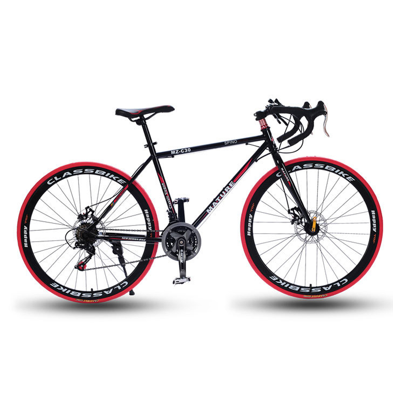 700C road bike 21 27 30 variable speed bicycle bend handle double disc brake aluminum road 700C road bike 21/27/30 variable speed bicycle bend handle double disc brake aluminum road bicycle Male and female bike