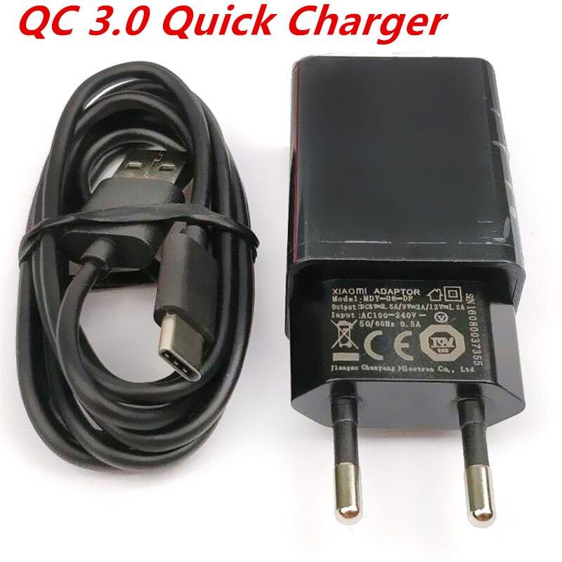 Original XIAOMI QC3.0 Fast Charger 9V-2A /12V 1.5A Adapter USB Cable For mi 5 5s mi5 note4X MAX2 Redmi5 5PLUS REDMI4A 4X A1 5X
