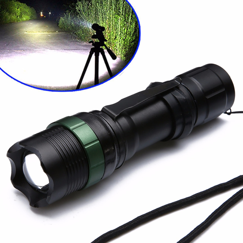 1500 Lumen Adjustable Flashlight Aluminum Alloy Zoomable XM-L Q5 LED Torch Zoom Super Bright Lamp Light Linternas For Household