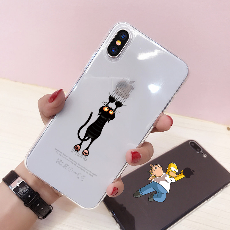 Soft Silicone TPU Cool Pattern Phone Shell For iPhone Models 8
