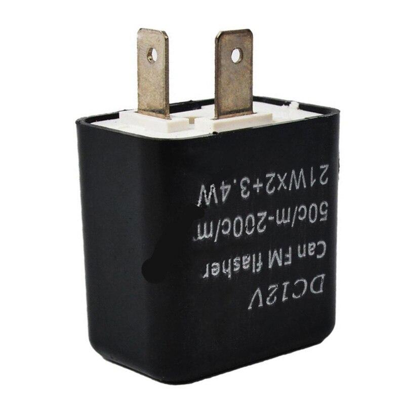 12V 2-Pins Adjustable Frequency LED Flasher Relay Motorcycle Turn Signal Indicator Motorbike Fix Blinker Indicator Switches