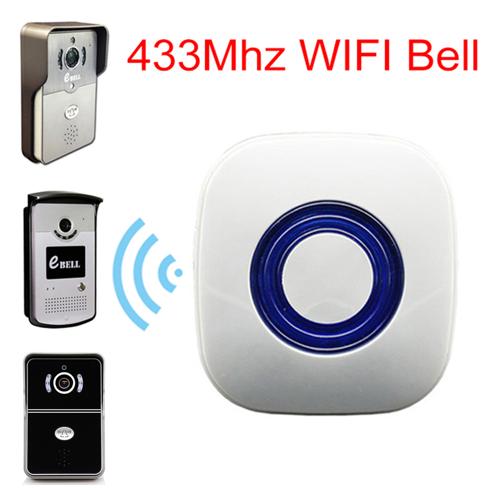 WIFI 433MHz Learning Code eBELL Dingdong Chime Wireless Indoor Doorbell Home Matching for ATZ DBV01P/3P/4P-433Mhz Video Intercom long distance 2v2 433mhz wireless welcom chime digital ac doorbell