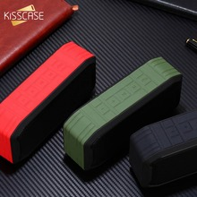 KISSCASE Portable Bluetooth Speaker with Premium Stereo 3D Bass Sound Water&Dust&Fall Proof Handfree 1200ah Range Built-in Power