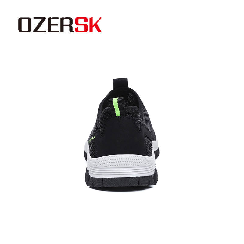 Image 3 - OZERSK Men Shoes Summer Sneakers Breathable Casual Shoes Fashion Slip On Men's Mesh Flats Shoes Walking Shoes Plus Size 39~48-in Men's Casual Shoes from Shoes