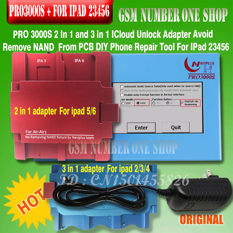 Adapter for ipad 5 6 non remove the Nand fixture