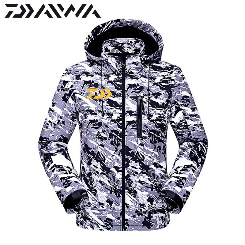 DAIWA DAWA Fishing Clothes Autumn Winter Keep Warm Waterproof Jacket Outdoors Thicken Breathable Coat Fishing Windbreaker