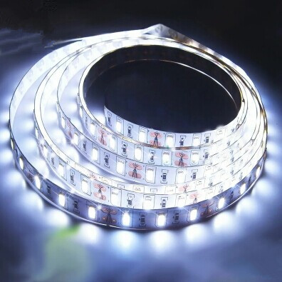 DHL 500 meters/lot12v Non-Waterproof 300-SMD 5630 Flexible LED Ribbon Light Cold whiteLED Strip with adhesive back tape