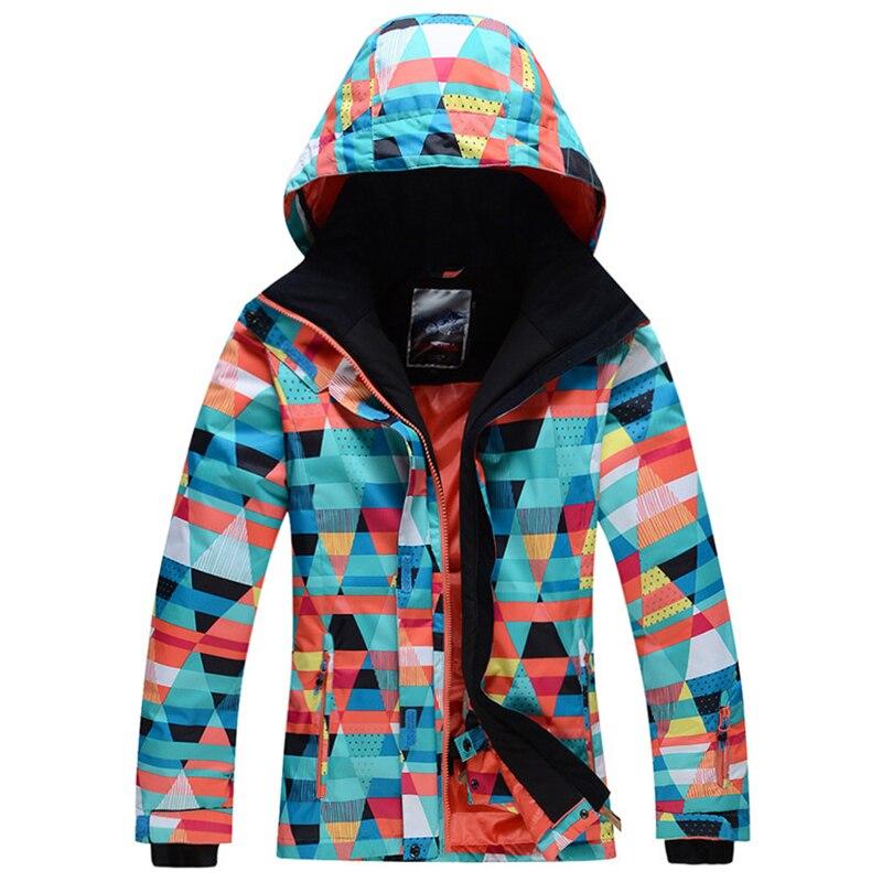 Free Shopping   Winter -30 Warm Ski Suit Sets Women Skiing Jacket  Waterproof Windproof Mountaineer ski clothing waterproof