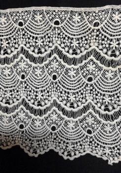 30cm wide milk fibre dyed yarn embroidery lace trim,Eco-Friendly soft touch eyelash lace trim, XERYzx150422-3