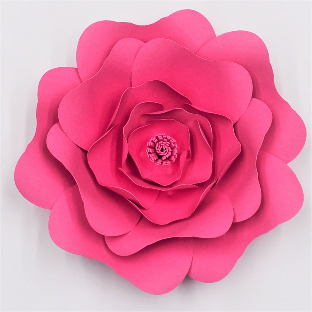 2018 Diy Grandes Rosas Gigantes Papel Flores Para Fondos De Boda