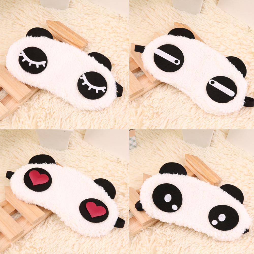 Cute Panda Sleeping Face Eye Mask Blindfold Eyeshade Traveling Sleep Eye Aid Eyes Care Tools Drop Shipping Wholesale