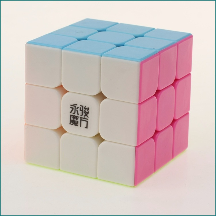 3x3x3 YJ Yongjun Magic Cube Speed ​​Cubo Square Puzzle Kiub Tiada - Teka-teki - Foto 2